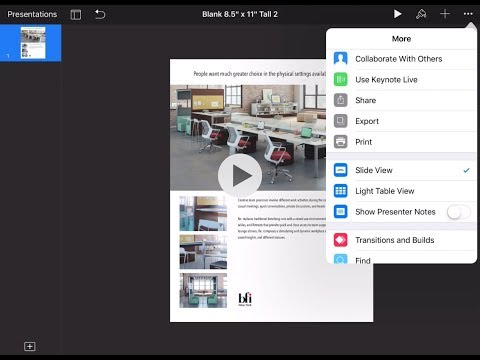 How to design a flyer on an iPad using Keynote