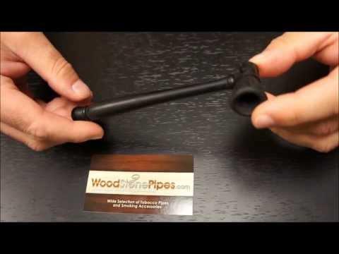 Carved Ebony Wood Handmade Smoking Pipe