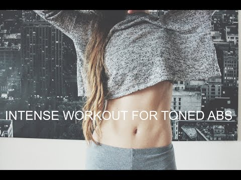 Intense Workout For Toned Abs ❤ Effective Core Workout (No Equipment)