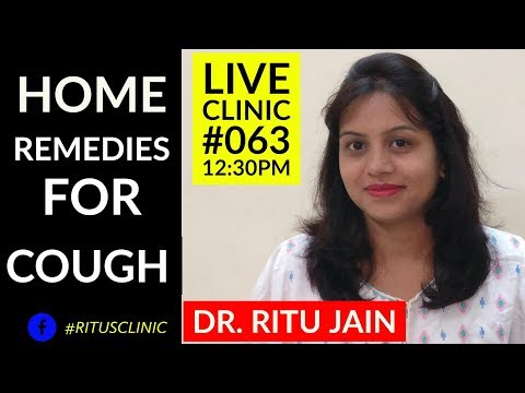 Home Remedies For Dry Cough and Cold in Kids (in Hindi) - Dr.Ritu's Live Clinic#063