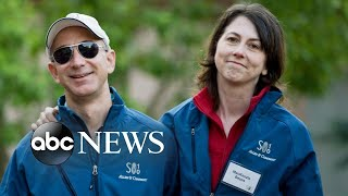 Amazon founder, wife announce they