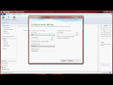 Windows Live Mail setup guide