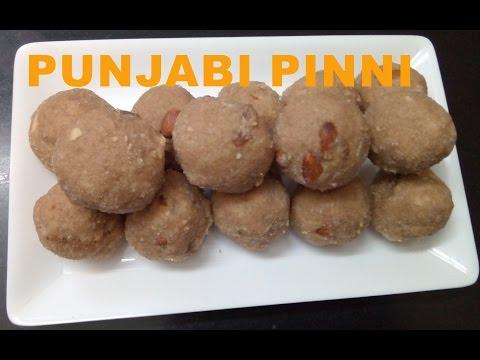 Pinni - Atta ladoo / wheat flour ladoo /Atta Ladoo / Punjabi Pinni Recipe / Desi Ghee ki Pinni