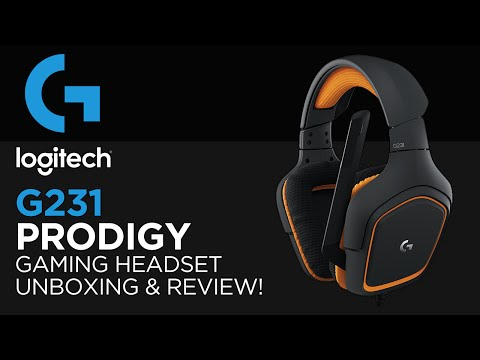 Logitech G231 Prodigy Gaming Headset Unboxing, Review & Microphone Test!