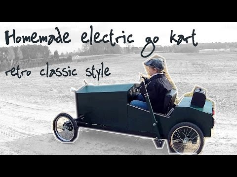 Homemade electric go kart - part 3 - body steering and electronics