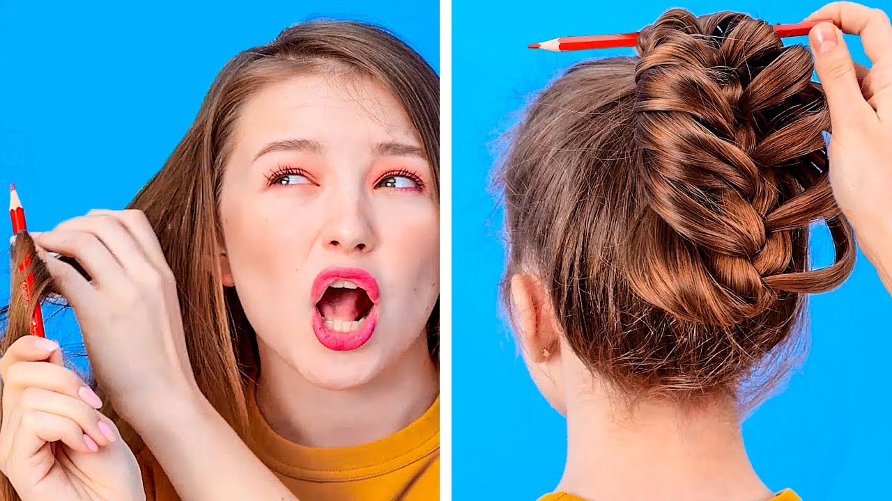 AMAZING HAIR HACKS THAT WILL SAVE YOUR DAY || Funny Hair Problems And Struggles by 123 Go! Gold