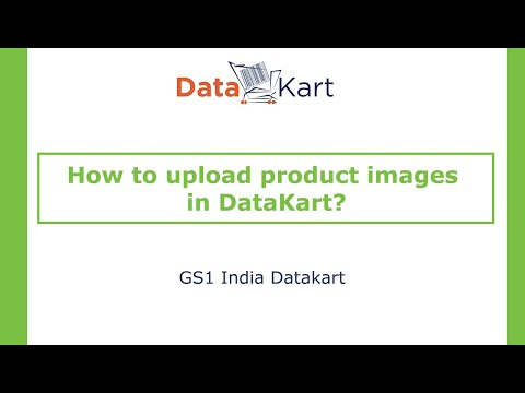 How to upload product images in DataKart?