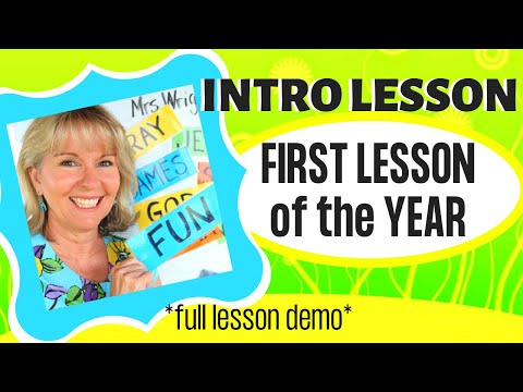 INTRO LESSON: First lesson of year: Sunday School & Kid's Ministry (WRIGHT IDEAS SUSAN)