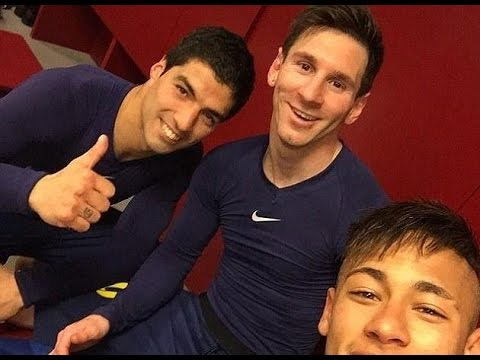 Neymar, Luis Suarez, Lionel Messi and Co pose for Instagram celebration photos after Barcelona