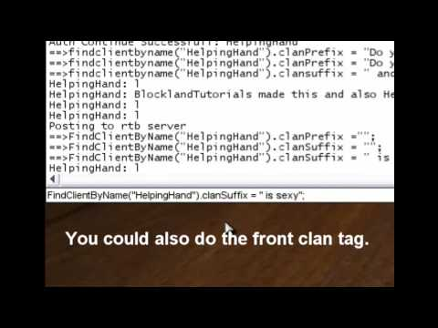 BlocklandTutorials: Changing your Clan Tag Longer!