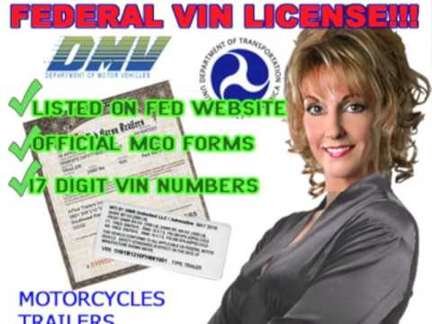 MOTORCYCLE MANUFACTURER LICENSE VIN numbers MCO MSO