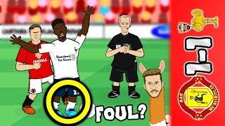 📺MAN UTD vs LIVERPOOL 1-1📺 Origi fouled? Rashford & Lallana Goals (2019 Parody Highlights)