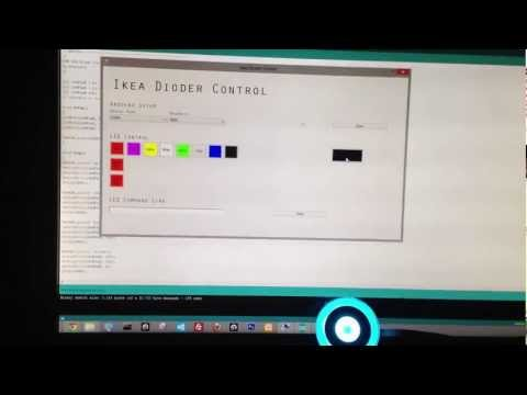 Ikea Dioder Hack - controlled by an Arduino + Windows Forms Application