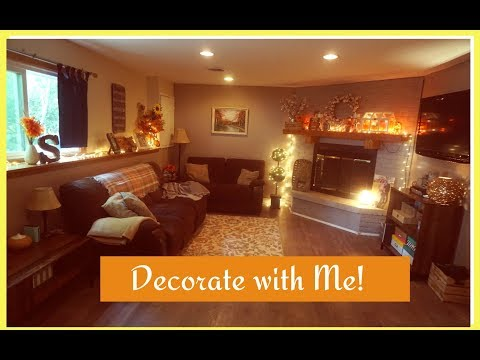 Speed Clean & Decorate with Me: The Family Room   Fall Autumn 2017