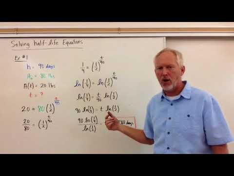 Solving Half-Life Equations