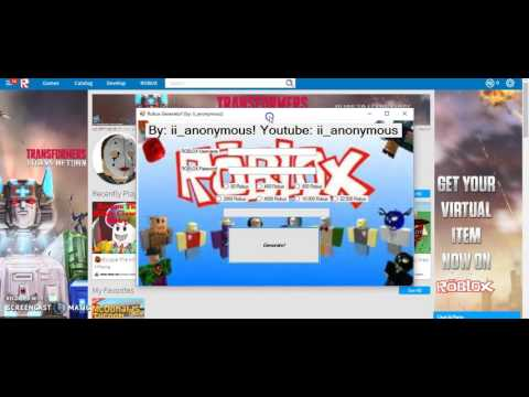 How to get Free robux! (robux Generator) NO survey! (LINK UPDATED)