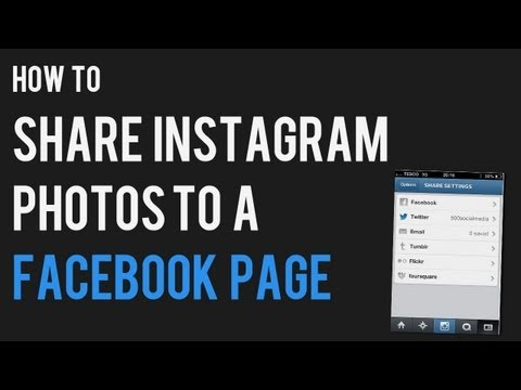 How to How to Share Instagram Photos to Facebook Fan Page | Post from Instagram to Facebook Page