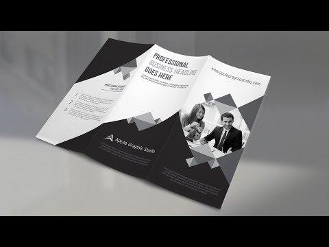 Corporate Trifold Brochure Design - Photoshop CC Tutorial