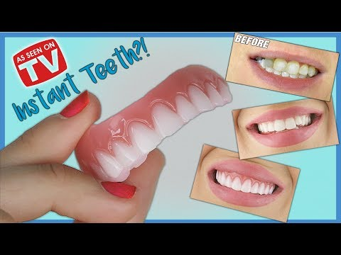 *New* INSTANT SMILE Press On Veneers Demo & Review   How do they look?