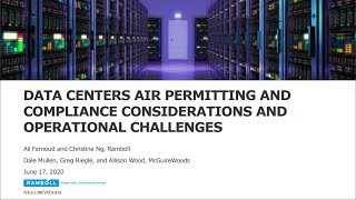 Internet Infrastructure: Data Centers Air Permitting & Compliance Considerations