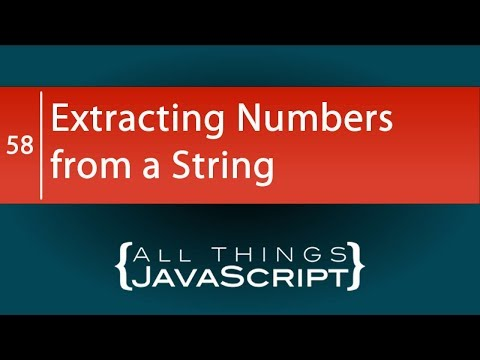 JavaScript Problem: Extracting Numbers from a String