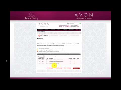 AVON Reps - How to place an order tutorial