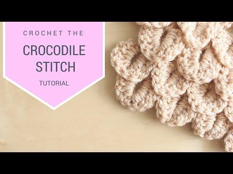 CROCHET: How to crochet the Crocodile Stitch | Bella Coco