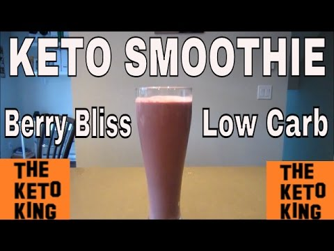 Keto Smoothie (Berry Bliss)- the BEST low carb keto smoothie, AMAZING taste!