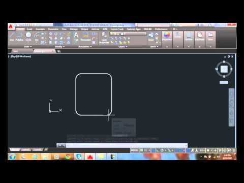 AutoCAD I  04-22 Drawing Rectangles   Adding Rounded Corners