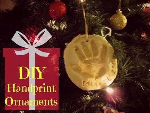 DIY Handprint Ornaments