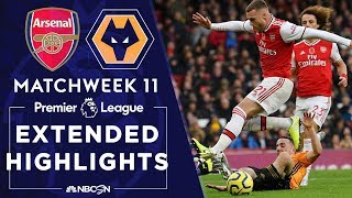 Arsenal v. Wolves | PREMIER LEAGUE HIGHLIGHTS | 11/02/19 | NBC Sports
