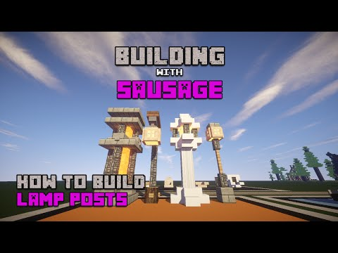 Minecraft - Building with Sausage - How to Build: Lamp Posts