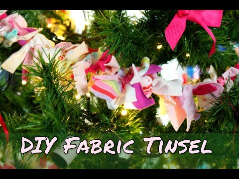 Easy To Make Christmas Decorations  - How To Make Fabric Tinsel