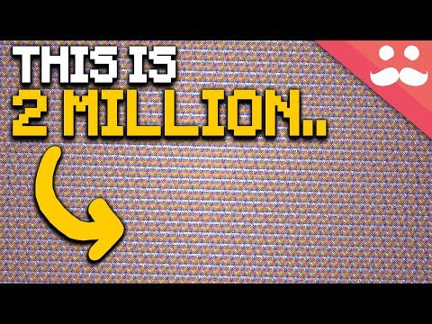 What does 2 MILLION Look Like in Minecraft?
