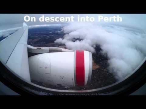 Virgin Australia flight from Sydney to Perth | Takeoff and landing | Australia, 2014