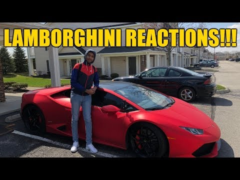 Picking Up a Subscriber From  School in The Lamborghini - FUNNY REACTIONS!!!