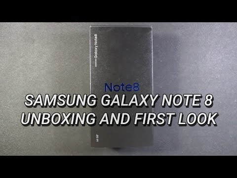 Samsung Galaxy Note 8 Unboxing and First Look