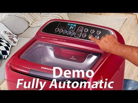 samsung top load washing machine demo | top load washer reviews | how to use fully automatic washer