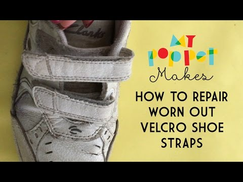 How to Repair Worn Out Hook and Loop Shoe Straps (VELCRO® Brand Fastener)