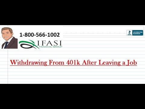Withdrawing from 401k after Leaving Job