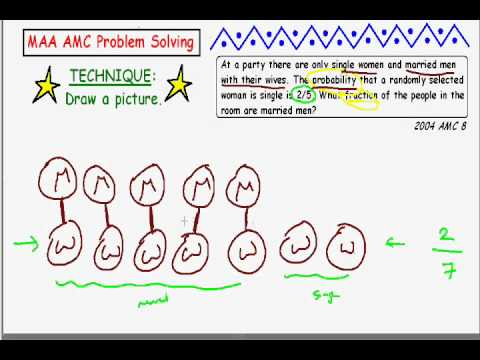 MAA AMC Problem Solving Techniique _ Draw a Picture (Tanton)