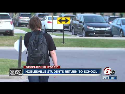 Noblesville students return to class days after school shooting