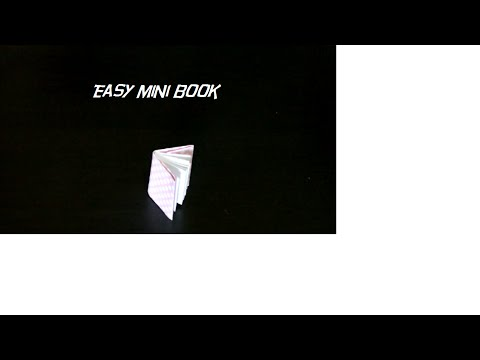How to make simple mini book (Easy steps)
