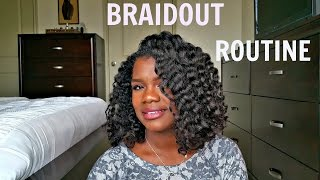 Best Braid Out On Relaxed Transitioning Hair Boucles Sur Cheveux