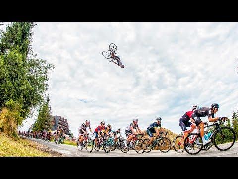 Taking road cycling to new heights? | Szymon Godziek flips over Tour de Pologne