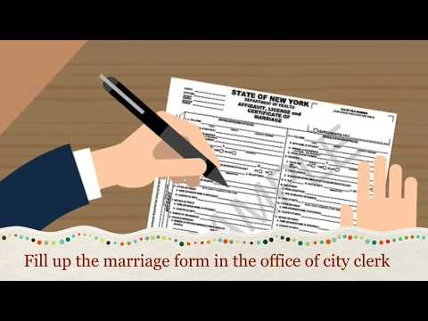 How to get marriage license & certificate in New York