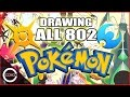DRAWING ALL 802+ POKEMON! (updated to Sun & Moon)