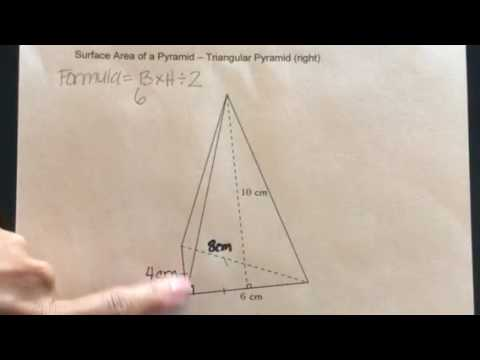 How to find the Surface Area of a Triangular Pyramid-Right Triangle