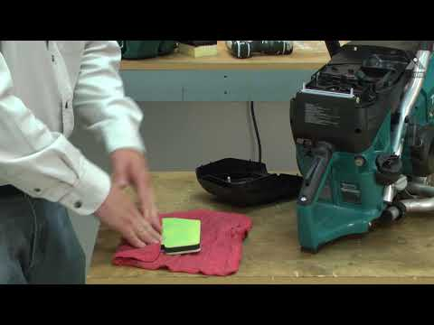 Makita Cut-Off Saw Repair - How to Replace the Pre-Filter
