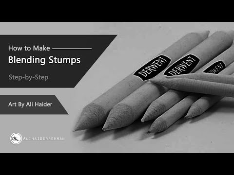 How to make your own paper Blending Stumps/ Tortillons | Step-by-Step Method.